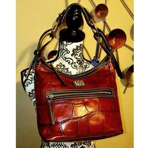 Dooney & Bourke Red Croc Embossed shoulder bag 💋